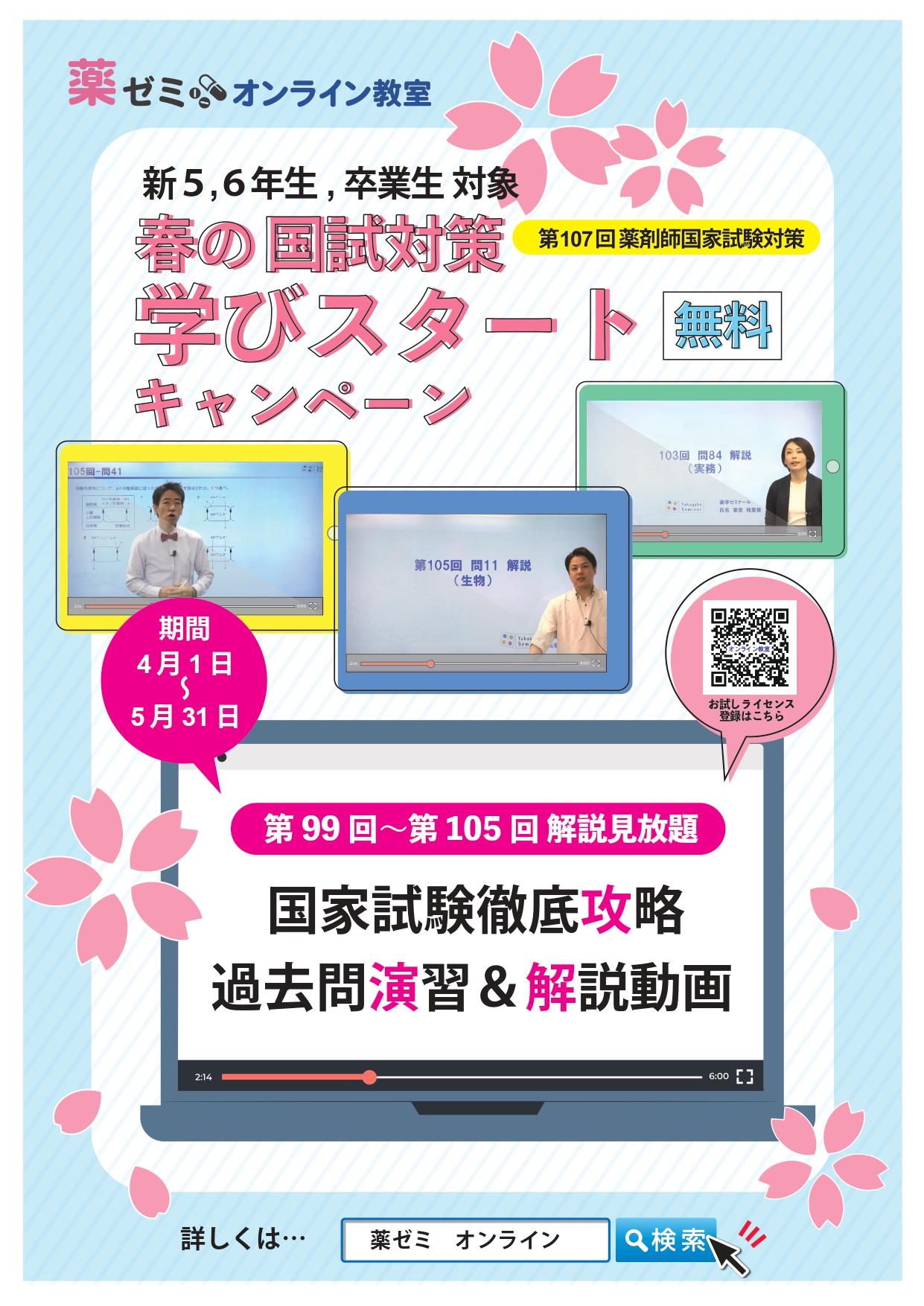 国試対策オンライン春のキャンペーン