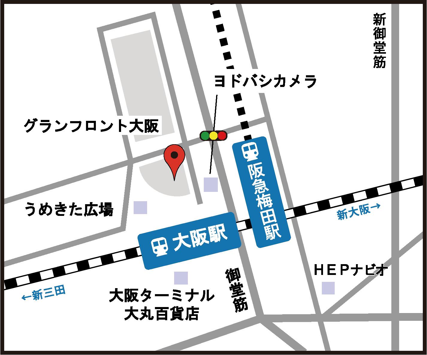 大阪教室アクセスマップ